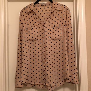 Express Polka Dot Convertible Shirt